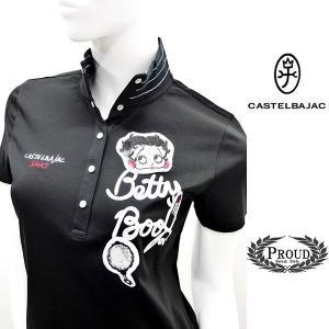 カステルバジャックレディース ¥23000+税 [9号]ベティ・ブープ Betty Boop 半袖ハイネックシャツ ROYAL COOL] 80201033              jcTIsl 24670|proud