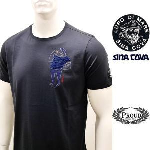 シナコバ 特選品¥15000+税 [L]半袖 Tシャツ メンズ クルーネック ニューキャラクターバージョン SINACOVA PORTOFINO] 80208001       scTIsm 18130510|proud
