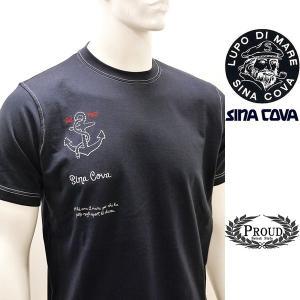 [シナコバ]¥12000+税 [L]半袖Tシャツ 刺繍ポイントデザインSINACOVA PORTOFINO] 80208035                 scTIsm 18130530|proud