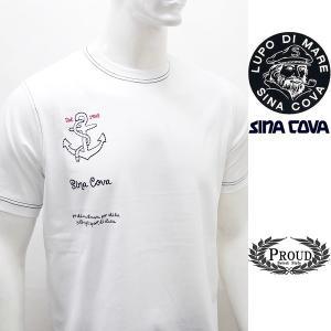 [シナコバ]¥12000+税 [L]半袖Tシャツ 刺繍ポイントデザインSINACOVA PORTOFINO] 80208037                 scTIsm 18130530|proud