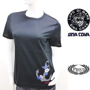 シナコバ レディース 特選品¥15000+税 [9号]半袖Tシャツ トロピカルデザイン]80208075             scTIsl 16180540|proud