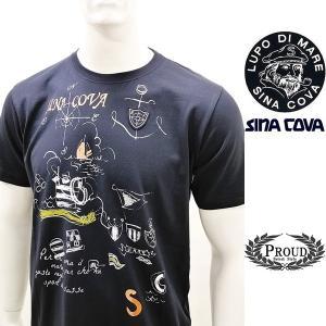 [シナコバ]¥12000+税 [L]半袖Tシャツ マリンアートデザインSINACOVA SARDEGNA] 80208086                scTIsm 18110580|proud