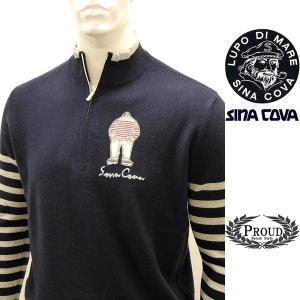 シナコバ アウトレット¥56000+税 [L]セーター メンズ カシミア100% ハイゲージハーフジッププルオーバー SINACOVA GENOVA] 80802050        scTYfm 17222020|proud