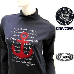 [シナコバレディース特選品]¥15000+税 [11号]ハイネックシャツ フロントキャッチーデザイン] 80802103             scTYfl 17280040   -e|proud