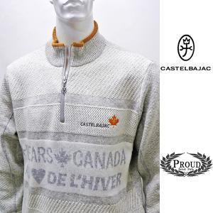 カステルバジャック 特選品¥38000+税 [L]セーター メンズ BEARS CANADA ジャガードチェンジデザイン]80822071              jcTIfm 21980|proud