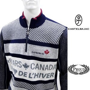 カステルバジャック ¥38000+税 [L]セーター BEARS CANADA ジャガードチェンジデザイン]80822072              jcTIfm 21980 proud