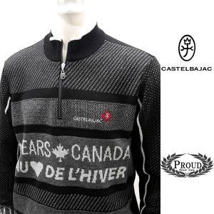 カステルバジャック ¥38000+税 [L]セーター BEARS CANADA ジャガードチェンジデザイン]80822073              jcTIfm 21980|proud