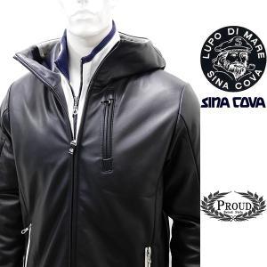 シナコバ ¥120000+税[L]レザー ジャケット パーカー 羊革 ライトウエイトキルティング SINA COVA GENOVA] 80901002                 scTIfm 18223910|proud