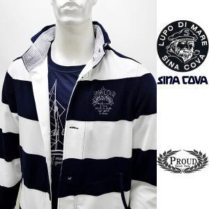 シナコバ ¥45000+税 [L]ジャケット メンズ ファブリックチェンジ マリンボーダースタイル SINACOVA SARDEGNA 90207012            scTCm 19113050|proud