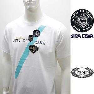 シナコバアウトレット ¥13000+税 [LL]半袖 Tシャツ メンズ フロントアイコンデザイン SINACOVA SARDEGNA 90207077                scTCsm 19110540|proud