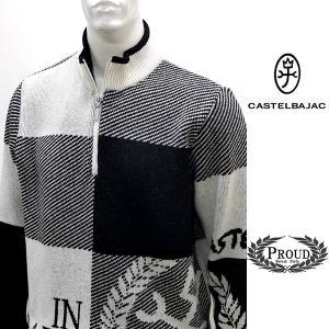 カステルバジャック 特選品 ¥38000+税 [48/L]セーター メンズ ジャガードブロック KAMONデザイン 90825053             jcTCfm 21380|proud