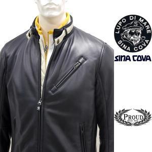 シナコバアウトレット ¥120000+税[LL]レザー ジャケット メンズ 羊革 ライトウエイトキルティング SINACOVA GENOVA 90901014   scTCfm 19223910|proud