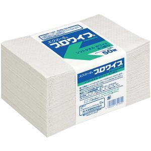 エリエール プロワイプ ソフトタオル ホワイト 帯どめ 50 50枚×24パック|proues