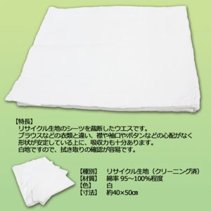 定型シーツウエス (洗濯済み リサイクル生地) 2kg/袋 布 メンテナンス 掃除 吸水|proues|02