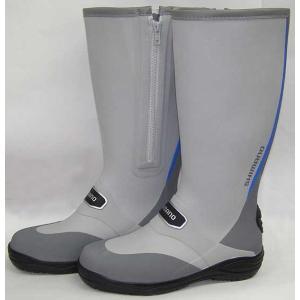 シマノ ラジアルブーツ FB-012Q ブルー / シマノ長靴 (ワイドタイプM)|ps-marin