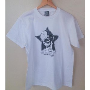 GAN CRAFT ガンクラフト Tシャツ (スタースカルTee)ホワイトM|ps-marin