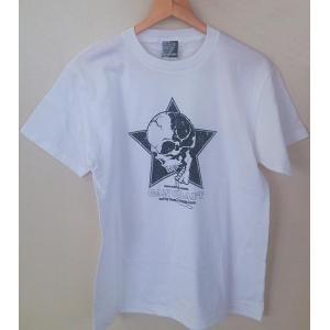 GAN CRAFT ガンクラフト Tシャツ (スタースカルTee)ホワイトS|ps-marin