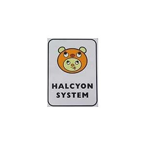HALCYON SYSTEM ステッカー / ハル坊ステッカー 100×75mm|ps-marin