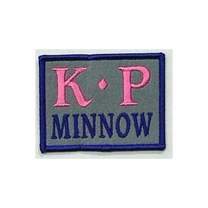 カキプロ ミノー (K・P MINNOW)グレーピンク ワッペン  83×64mm|ps-marin