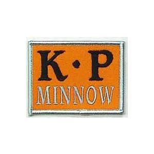 カキプロ ミノー (K・P MINNOW)オレンジブラック ワッペン 83×64mm|ps-marin