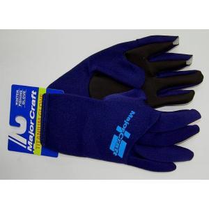 メジャークラフト チタニュームグローブ2ネイビー(3カット)M 防寒 手袋 ps-marin