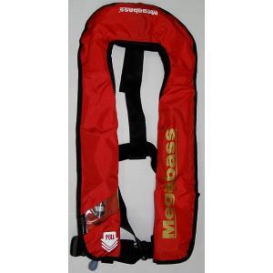 Megabass LIFE SAVER(JACKET)/ メガバス ライフセーバー RED(ジャケット)自動膨張式 救命具/桜マーク付き|ps-marin