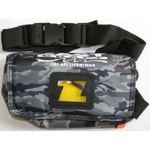 ZACT CRAFT 救命具 ザクトクラフト エアーライフポーチ / インフレータブル 小型 救命具 (ブラックカモ)|ps-marin