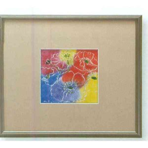 【送料無料】九谷焼 N87-04 陶額 アルミ額シリーズ ファンタジー ガラス付 31.5×35.5cm