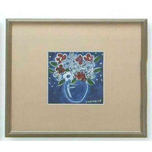 【送料無料】九谷焼 N87-06 陶額 アルミ額シリーズ バイオレット ガラス付 31.5×35.5cm