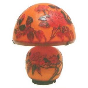 【送料無料】 Collection 【CP-1027N】 ArtNouveauStyle ガラスランプ 薔薇 25.5×31.5cm 電源:E17 25W/E12 10W