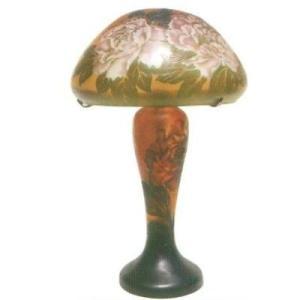 【送料無料】 Collection 【CP-1032N】 ArtNouveauStyle ガラスランプ 牡丹 37×42cm 電源:E17 25W/E12 10W