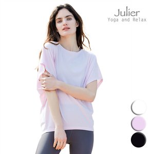 Julier ジュリエ ヨガウェア トップス Tシャツ 半袖 カットソー ライトプライムラウンドTシャツ B1913JUB028 ヨガ ブランド 2021年秋冬aw新作 psps