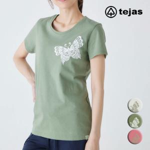tejas テジャス ヨガウェア レディース トップス Tシャツ tejas-T フラワー TL91110 ヨガ トップス ヨガブランド|psps