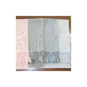 オーガニックコットン 草木染めストライプ楊柳ストール ファッション小物・ウェア・バッグ レディスウェア  puapu-online