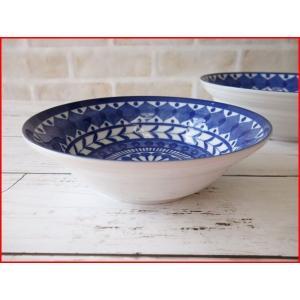 ブルーアラベスク16cmミニサラダボール/業務用食器 カフェ食器 中鉢 おしゃれ 北欧風\|puchiecho