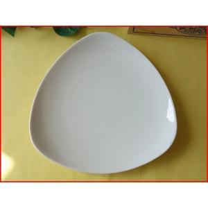トライアングル23cmランチプレート/おしゃれ ワンプレート 大皿 食器 激安 白 北欧風\|puchiecho