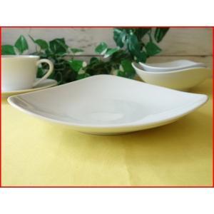 トライアングル20cmパスタ皿(小)  カレー皿 カレーパスタ皿 食器 おしゃれ 美濃焼 日本製 業務用 北欧風|puchiecho