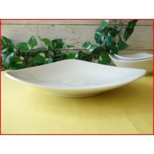 トライアングル23cmパスタ皿(中)  カレー皿 カレーパスタ皿 食器 おしゃれ 美濃焼 日本製 業務用 北欧風|puchiecho