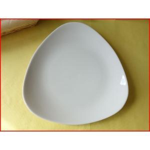 トライアングル25cmパスタ皿(大)  カレー皿 カレーパスタ皿 食器 おしゃれ 美濃焼 日本製 業務用 北欧風|puchiecho
