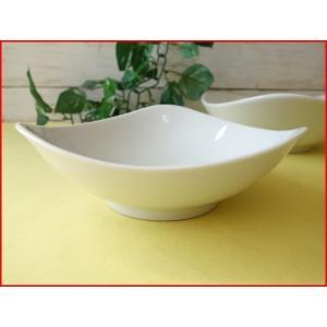 トライアングル16cmミニサラダボール/白い食器 カフェ食器 取り鉢 中鉢 盛り鉢 陶器 ボウル\|puchiecho