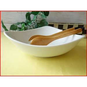 トライアングル23cmサラダボール/おしゃれ サラダボウル 大 カフェ食器 白 北欧風|puchiecho