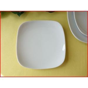 スクエアーミール15cm取り皿/白い食器 銘々皿 美濃焼 小皿 和食器 おしゃれ 陶器\ puchiecho