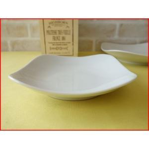 スクエアーミール15cmオードブル(前菜)プレート(おしゃれ 業務用食器 プレート) puchiecho