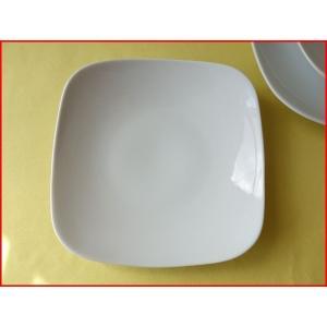 スクエアーミール19cmパスタ皿(小)  カレー皿 カレーパスタ皿 食器 おしゃれ 美濃焼 日本製 業務用 北欧風|puchiecho