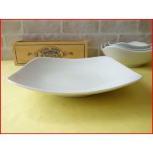 スクエアーミール21cmパスタ皿(中)  カレー皿 カレーパスタ皿 食器 おしゃれ 美濃焼 日本製 業務用 北欧風|puchiecho
