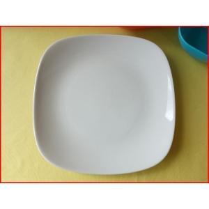 スクエアーミール24cmパスタ皿(大)  カレー皿 カレーパスタ皿 食器 おしゃれ 美濃焼 日本製 業務用 北欧風|puchiecho