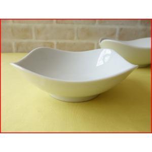 スクエアーミール15cmミニサラダボール/白い食器 カフェ食器 取り鉢 中鉢 盛り鉢 陶器 ボウル\|puchiecho
