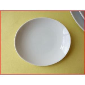 ソフトオーバル12cm醤油皿/白い食器 銘々皿 美濃焼 小皿 和食器 おしゃれ 陶器\|puchiecho