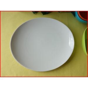 ソフトオーバル24cmランチ皿/おしゃれ ワンプレート 大皿 食器 激安 白 北欧風\|puchiecho