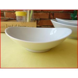 ソフトオーバル16cmミニサラダボール/白い食器 カフェ食器 取り鉢 中鉢 盛り鉢 陶器 ボウル\|puchiecho